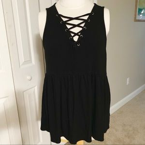 Torrid Black Sleeveless Tank Top